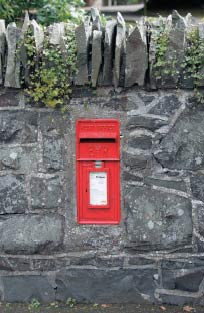 letter box in wall at Drum Bridge